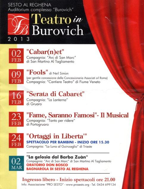 Teatro Burovich - Sesto al Reghena - Feb 2013