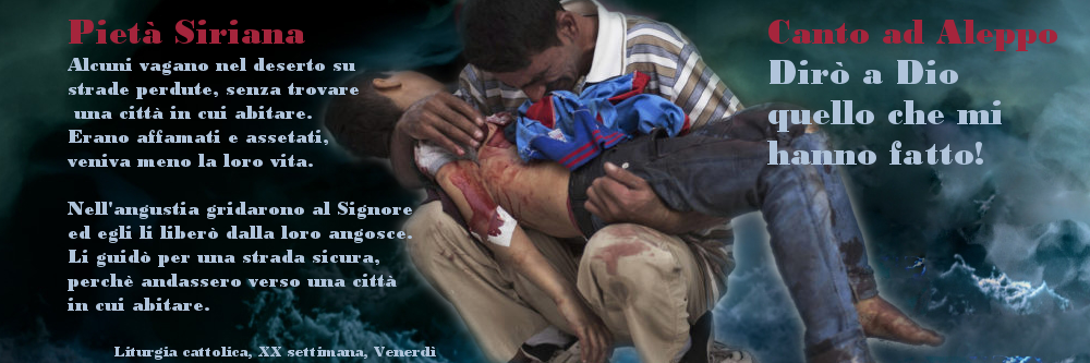Pietà siriana - Canto per Aleppo