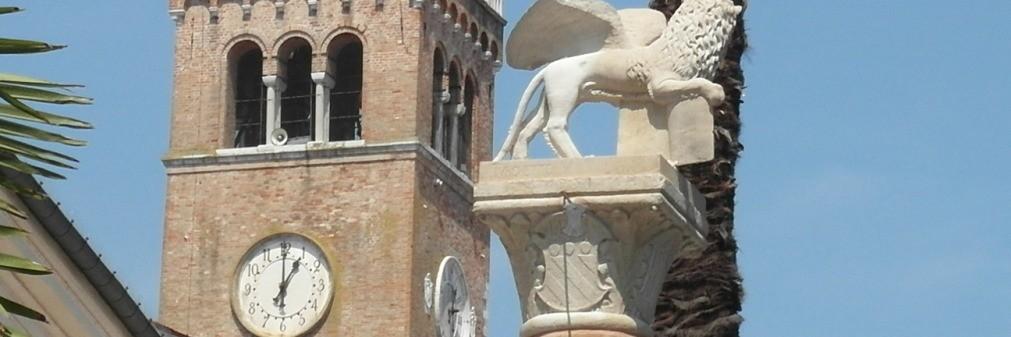 Portogruaro - Leone di San marco e Torre campanaria